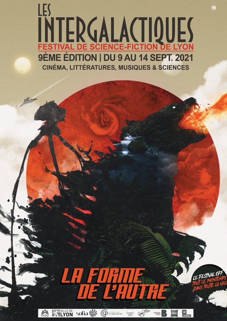 Affiche des Intergalactiques de Lyon 2021